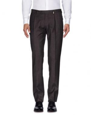 Повседневные брюки GIO ZUBON. Цвет: баклажанный