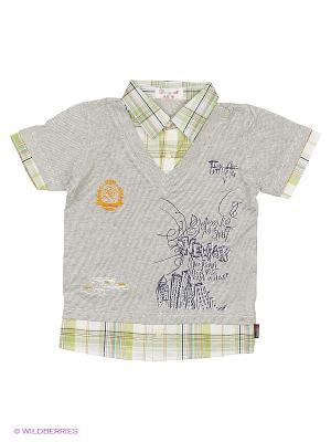 Рубашка DAMY-M. Цвет: серый, бледно-розовый