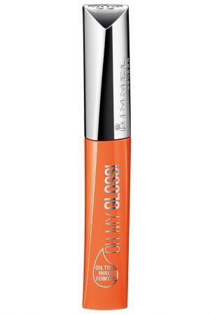 Блеск-тинт для губ, тон 600 RIMMEL. Цвет: оранжевый