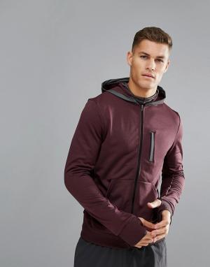 Adidas Худи фиолетового цвета BQ7075. Цвет: красный