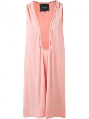 Платье-шифт с глубоким вырезом Jay Ahr. Цвет: розовый и фиолетовый