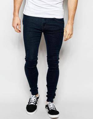 Dr Denim Супероблегающие джинсы с эффектом кислотной стирки Dixy. Цвет: синий