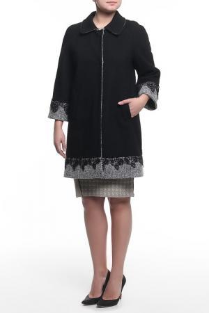 Пальто XS MILANO. Цвет: черный