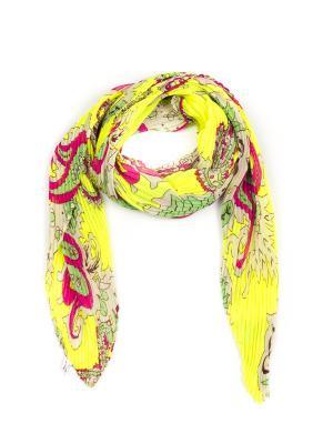 Платок Pretty Mania. Цвет: светло-желтый, зеленый, малиновый