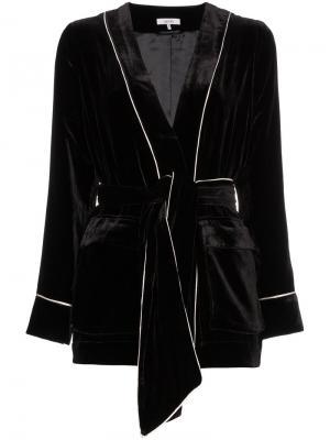 Бархатный пиджак rodier Ganni. Цвет: чёрный