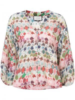 Блузка с абстрактным рисунком Alexis. Цвет: многоцветный