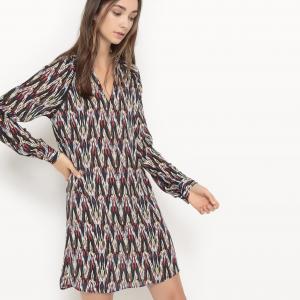 Платье из тонкой ткани с рисунком Calliste SUNCOO. Цвет: рисунок черный/красный