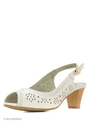 Босоножки на каблуке ЭГО. Цвет: белый