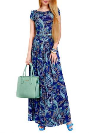 Платье FRANCESCA LUCINI. Цвет: джинсово-лазурный, анталия