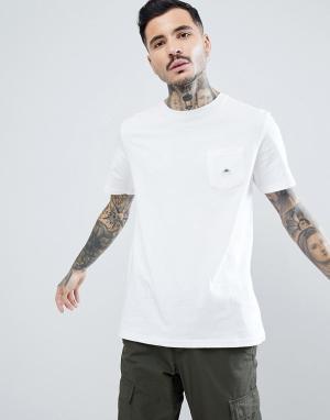 Penfield Белая футболка с логотипом на кармане. Цвет: белый