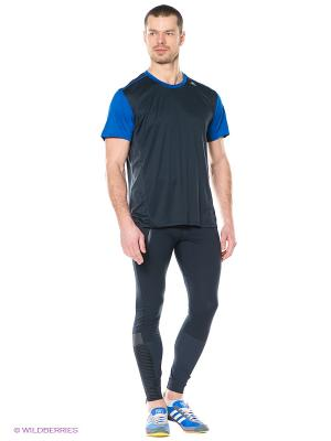 Леггинсы для бега adistar Windprotect Adidas. Цвет: темно-синий