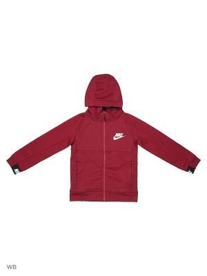 Толстовка B NSW HOODIE FZ AV15 Nike. Цвет: красный