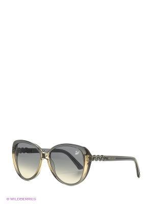 Солнцезащитные очки SK 0029 20В Swarovski. Цвет: бежевый