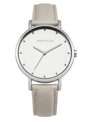 Часы KAREN MILLEN. Цвет: серый