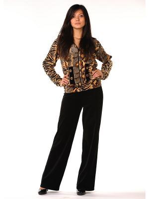 Велюровый костюм Тефия. Цвет: черный, коричневый, бежевый