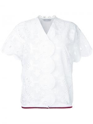 Вышитая рубашка Tsumori Chisato. Цвет: белый