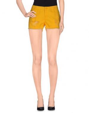 Джинсовые шорты VERO MODA. Цвет: желтый