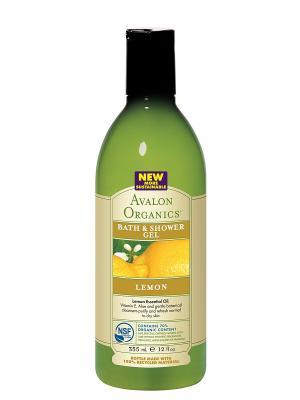 Гель для ванны и душа с маслом лимона,355 мл Avalon Organics. Цвет: прозрачный