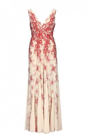 Платье Alice + Olivia. Цвет: красный