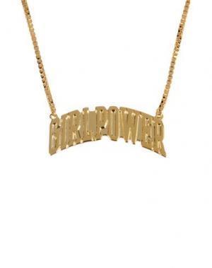 Ожерелье AMBUSH. Цвет: золотистый