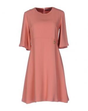 Короткое платье ELISABETTA FRANCHI 24 ORE. Цвет: лососево-розовый