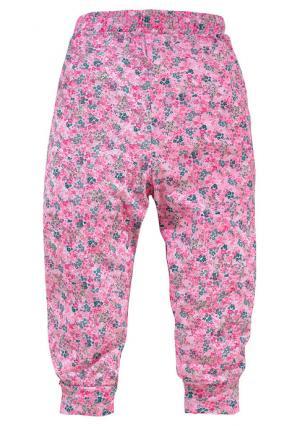 Шаровары KIDOKI. Цвет: розовый в цветочек