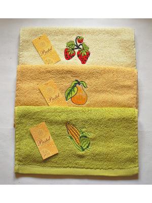 Комплект полотенец 3 предмета Кухня - 80,30х55 см La Pastel. Цвет: салатовый