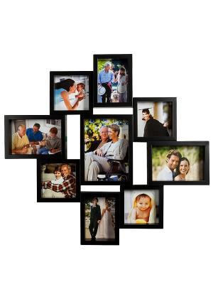 Фоторамка настенная Семейная история на 9 фото Bellezza casa. Цвет: черный