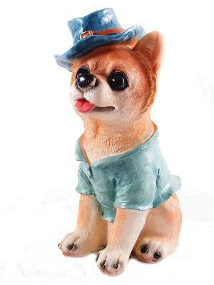 Копилка Собачка Русские подарки. Цвет: коричневый, бежевый, синий