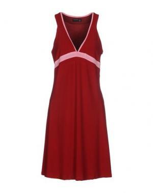 Короткое платье SIMONA MARTINI. Цвет: красно-коричневый