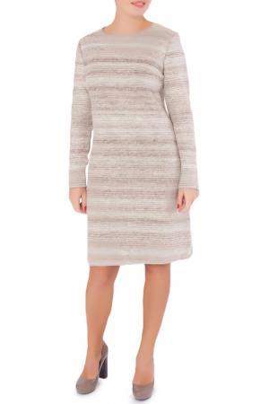 Приталенное платье с круглым вырезом Woolhouse. Цвет: бежевый