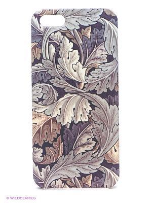 Чехол для IPhone 5 Листья Mitya Veselkov. Цвет: бежевый, черный