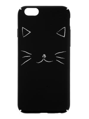 Чехол крышка задняя для iphone 6 кот IQ Format. Цвет: черный, белый