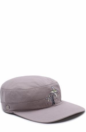 Кепка с вышивкой Sunuva. Цвет: серый