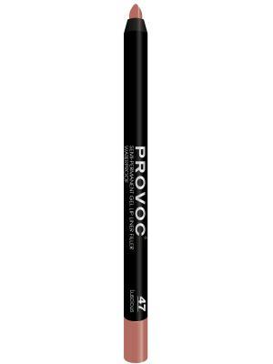 PV0047 Gel Lip Liner 47 Luscious Гелевая подводка в карандаше для губ (цв. беж.-розовый) Provoc. Цвет: розовый