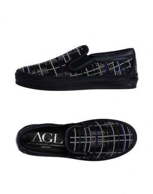 Низкие кеды и кроссовки AGL ATTILIO GIUSTI LEOMBRUNI. Цвет: темно-синий
