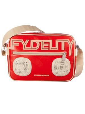 Сумка Fydelity. Цвет: красный