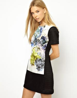Louise Amstrup Платье со вставками с принтом