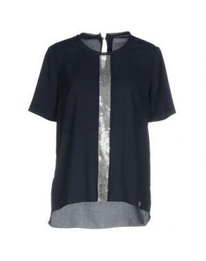 Блузка MOUCHE. Цвет: темно-синий