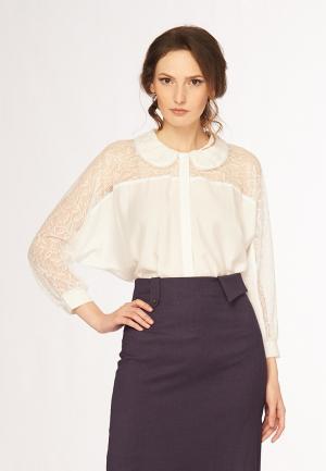 Блуза Ано. Цвет: белый