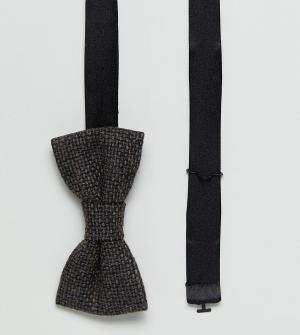 Heart & Dagger Твидовый галстук-бабочка с шевронным узором. Цвет: коричневый