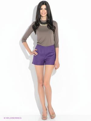 Шорты MONDIGO. Цвет: фиолетовый