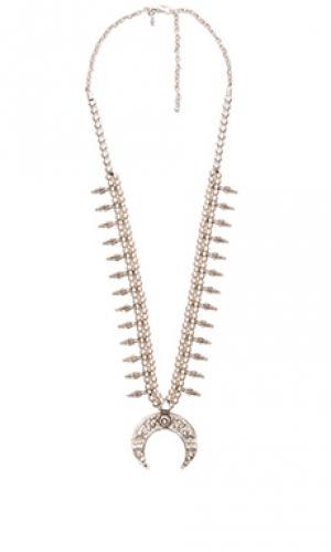 Ожерелье moon rise naja Natalie B Jewelry. Цвет: металлический серебряный