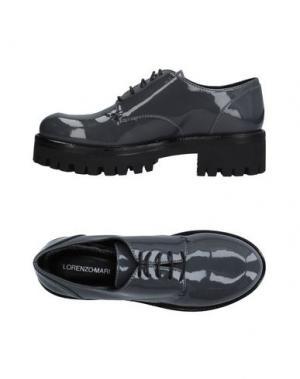 Обувь на шнурках LORENZO MARI. Цвет: серый