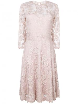 Расклешенное кружевное платье Olvi´S. Цвет: розовый и фиолетовый