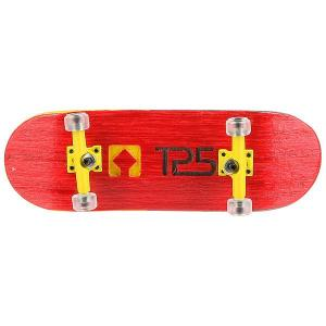 Фингерборд Turbo-Fb П10 Wide 32м с деревянным боксом Red/Yellow/Clear. Цвет: красный,желтый
