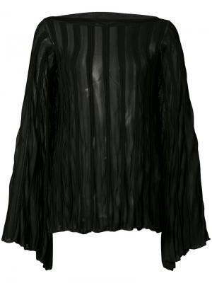 Плиссированная прозрачная блуза Chloé. Цвет: чёрный