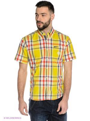 Рубашка Mavango. Цвет: желтый, красный, черный