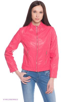 Куртка Oodji. Цвет: розовый
