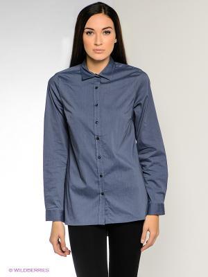 Рубашка MILANO ITALY. Цвет: синий